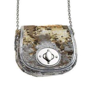GAP Gold & Silver Sequin Crossbody Mini Bag NWT